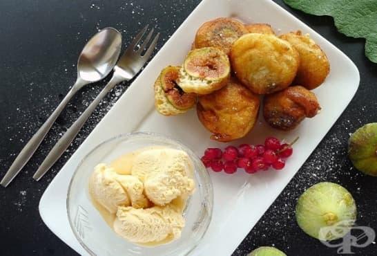 Панирани смокини в сладка бирена паста - изображение