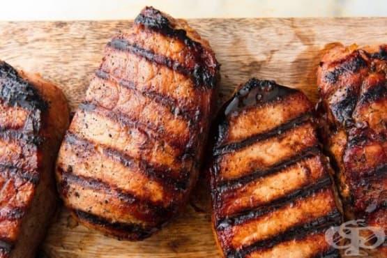 Свински пържоли с мед - изображение