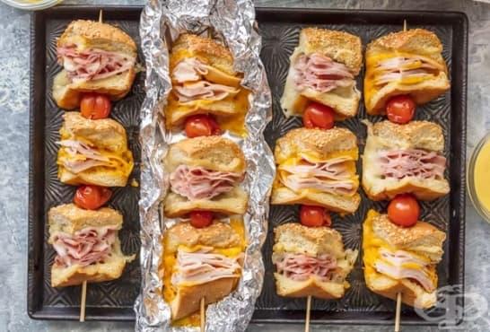 Парти сандвичи на шишче - изображение