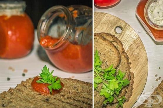 Пастет от печени чушки и домати с крема сирене - изображение