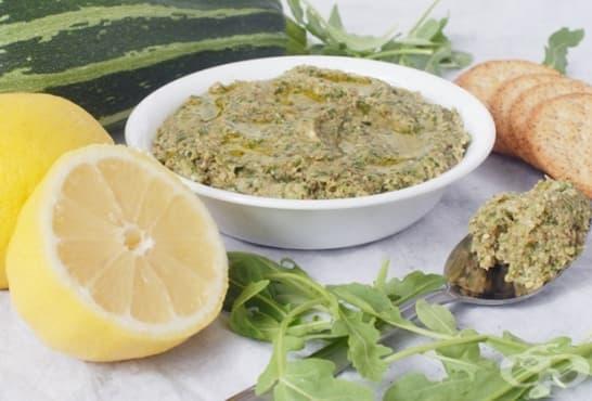 Песто от тиквички с рукола и лимон - изображение