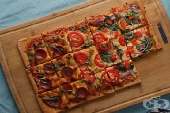 Пица с блат от киноа - изображение