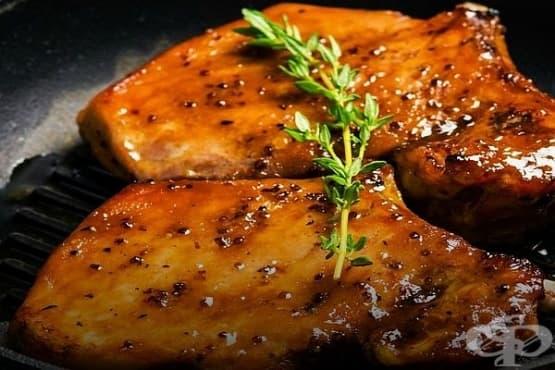 Пикантно свинско филе със сладка глазура - изображение