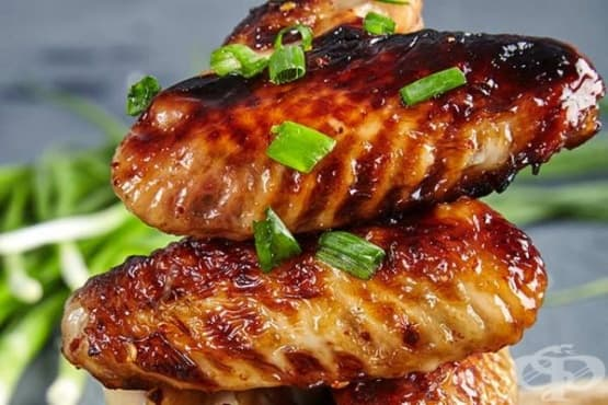 Пилешко с медена глазура с горчица - изображение