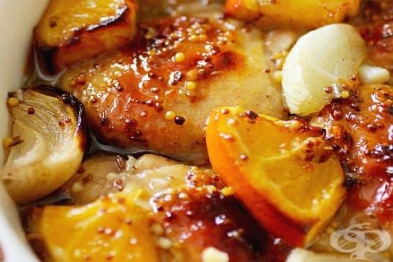 Пиле с лук, портокал и мед - изображение