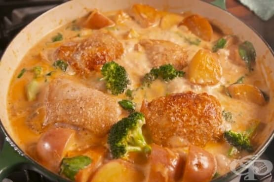 Картофена яхния с пилешко и пармезан - изображение
