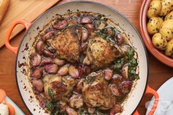 Пиле с 40 скилидки чесън - изображение