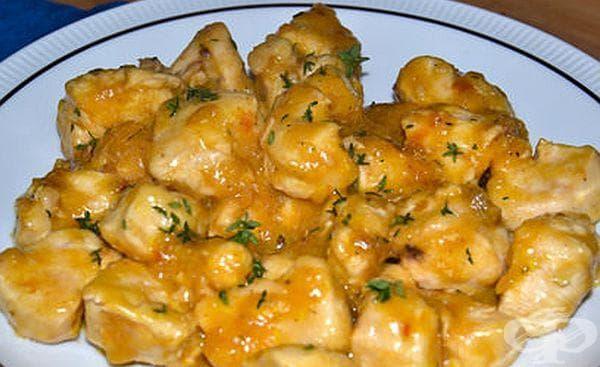 Пилешки гърди в лимонов сос - изображение