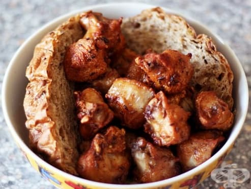 Пържени пилешки трътки с подправки - изображение