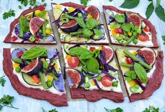 Пица с блат от цвекло и зеленчуци - изображение