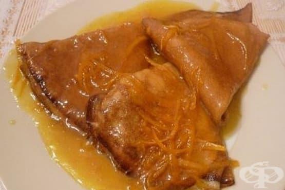 Портокалов сос за палачинки с яйца и прясно мляко - изображение