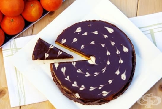 Портокалов сладкиш с шоколад - изображение
