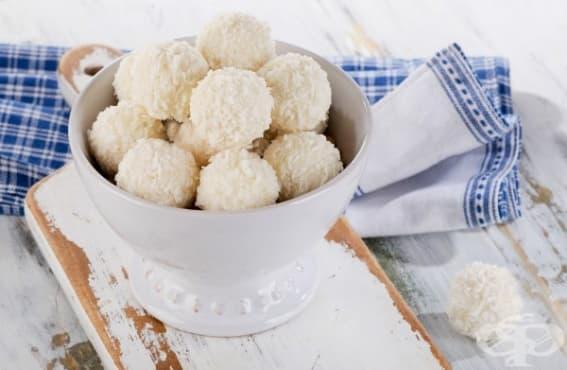 Постни лимонови бонбони с кокос - изображение