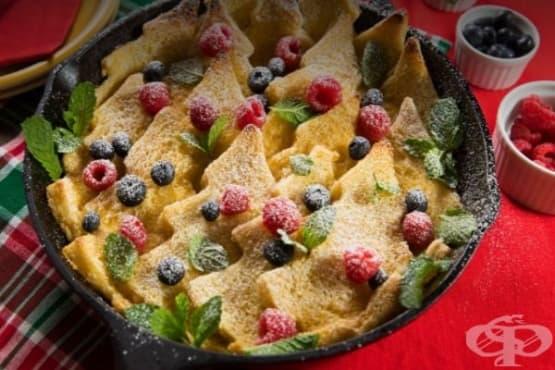Френска коледна закуска от филийки на фурна - изображение