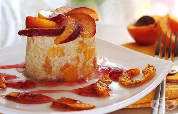 Ризото десерт с нектарини - изображение