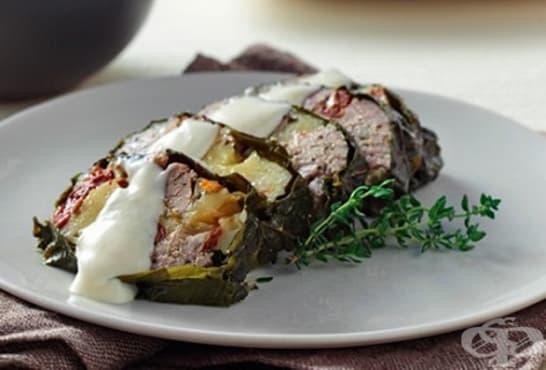 Руло от лозови листа със свинско месо - изображение