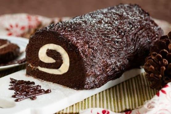 Лесно шоколадово руло - пънче - изображение