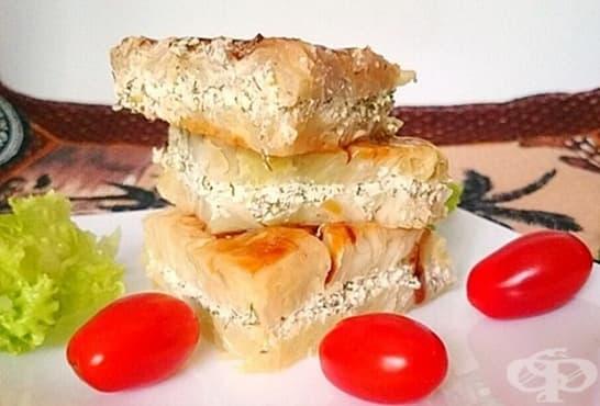 Сандвич от зеле с крема сирене и чесън - изображение
