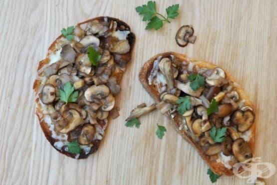 Сандвич с гъби и сирене Грюер - изображение