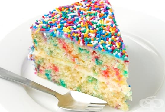 Шарена захарна торта - изображение