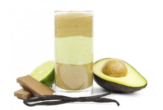 Шейк от авокадо с ванилия, шоколад и лайм - изображение