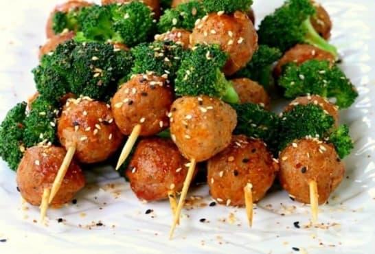 Шишчета от кюфтенца с броколи и микс от семена - изображение