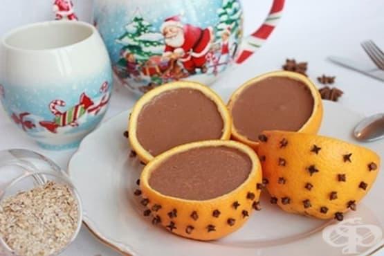 Овесено-шоколадов десерт в портокалови кори - изображение