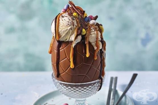 Шоколадов сладоледен десерт за Великден - изображение