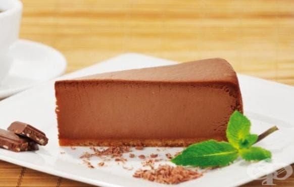 Шоколадов чийзкейк с крема сирене без печене - изображение