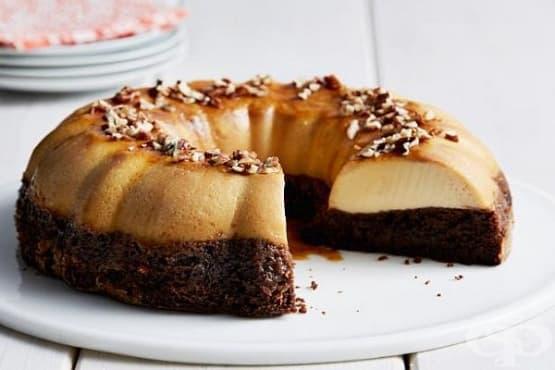 Шоколадова торта със суфле Флан - изображение