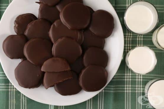 Шоколадови ментови бисквити  - изображение