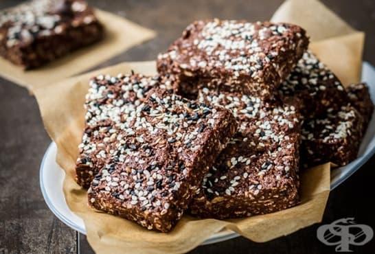 Блокчета без печене с шоколад и фъстъчено масло - изображение