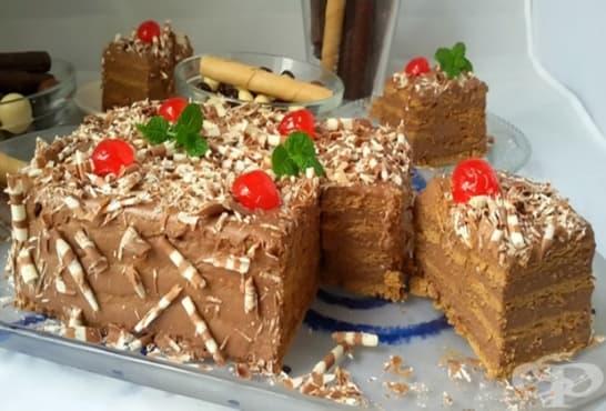 Канелена торта от бисквити с шоколад - изображение