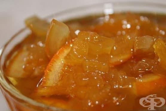 Сладко от тиквички с портокалови парченца - изображение