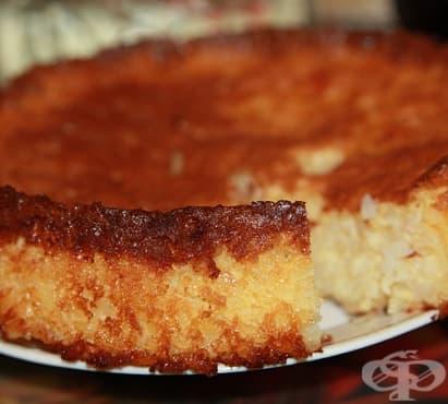 Печен оризов десерт с прясно мляко, яйца и ванилия - изображение
