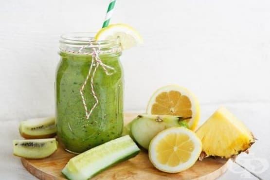 Смути от киви и краставица с ананас и лимон - изображение