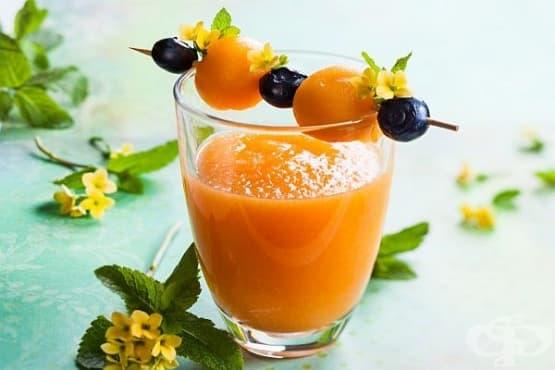Смути от пъпеш с диня и портокалов сок - изображение