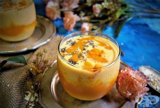 Смути с манго, праскови и овесени ядки - изображение