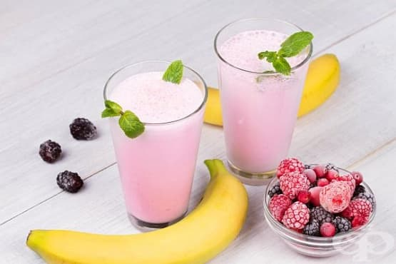 Млечно смути със замразени плодове - изображение