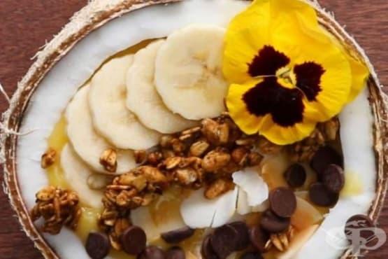 Тропическо смути в кокосов орех - изображение