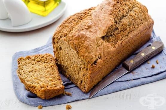 Пълнозърнест соден хляб с бира и овесени ядки - изображение