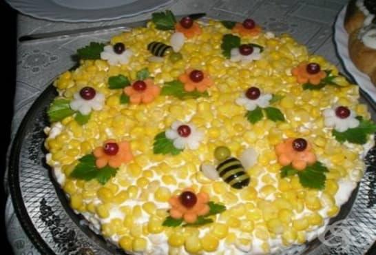 Солена палачинкова торта със сирена - изображение