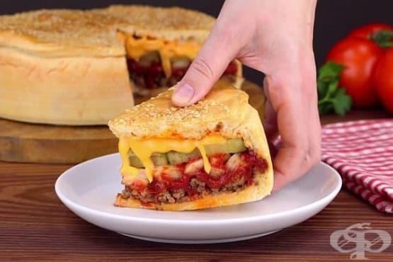 Солена торта Чийзбургер - изображение