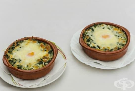 Спанак с яйца под шуба - изображение