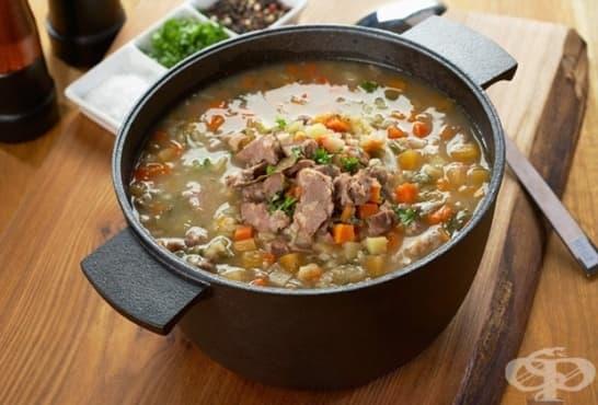 Зеленчукова агнешка супа с дреболийки - изображение