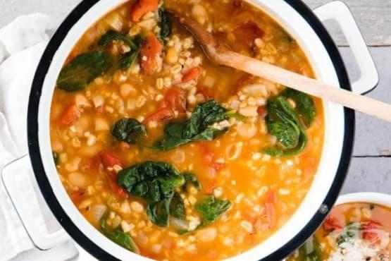 Супа с боб и ечемик - изображение