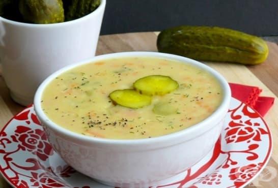 Супа от кисели краставички с копър - изображение