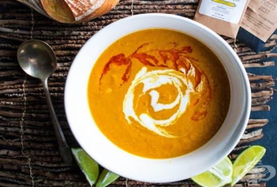 Крем супа от моркови, джинджифил и кокос - изображение