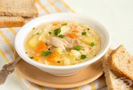 Пуешка супа със зеленчуци - изображение