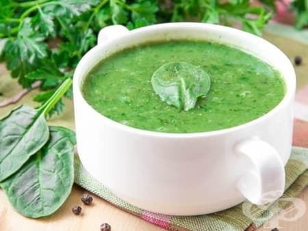 Спаначена супа с коприва - изображение